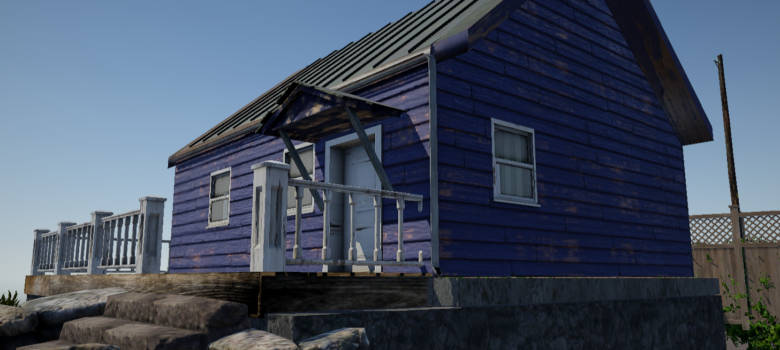 Retextured house